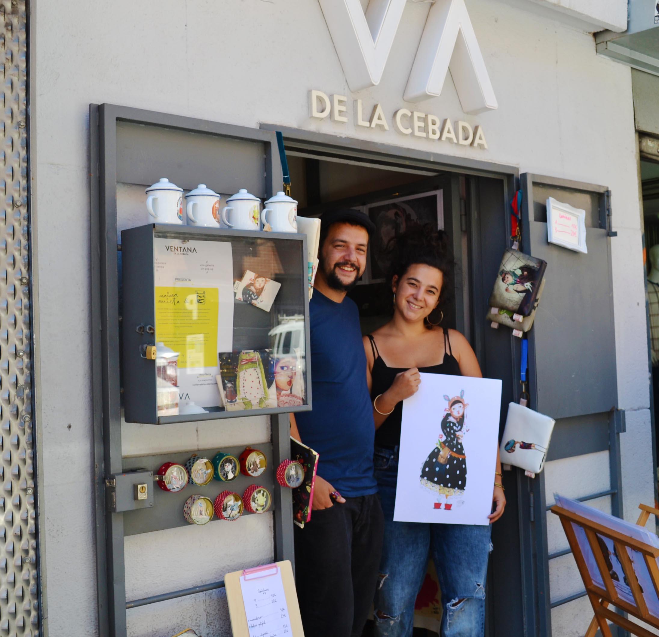 Naiara Arrieta y Juanma martin en Ventana de la Cebada